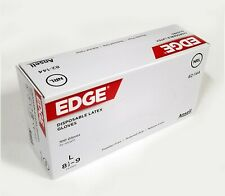 Ansell EDGE 82-144 Powder Free Latex Gloves 100/Box S M L Size
