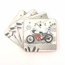 Pitstop Motorbike Table Drink Coasters Set Of 4  Bike Theme