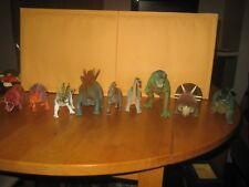 9 Piece Vintage Dinosaur Lot Tyco Styracosaurus Apatosaurus Parasaurolophus Rex