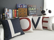 Set of 4 Pillow Cover LOVE Womens Day Gift Home Decor Cotton Line 18x18
