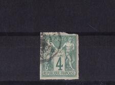 timbre France Colonies Francaises  sage  4 c  vert   num: 25  obl