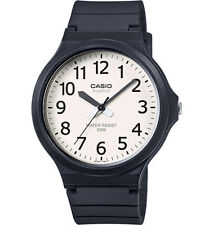 Casio Men's Black Resin Watch, Analog, 50 Meter Water Resistant, MW240-7BV