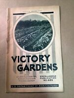 1943 Victory Gardens Pamphlet Us Department Ag Defiance O FREE SHIPPING INV-B23