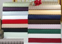 1200 Thread Count Egyptian Cotton 3pc Fitted Sheet Set AU Size Striped Color