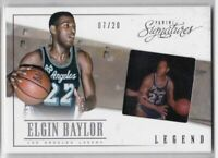 2013-14 Panini Signatures Film #/20 Elgin Baylor Los Angeles Lakers Card