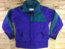 Vtg 90s Columbia Shell Jacket Criterion Ski Men Large Radial Sleeve Purple Nylon