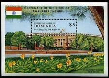 Dominica - 1989 - SC# 1229 1st PM Jawaharlal Nehru Souvenir Sheet - Stamp - MNH