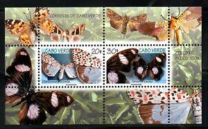 CABO VERDE, 1999, BUTTERFLIES, M/S, MNH,