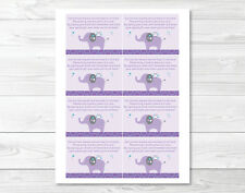Mod Elephant Owl Forest Friends Printable Baby Shower Book Request Cards