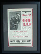 Houdini 1908 Houdin Book Advertising Poster - Now 111 Years Old!