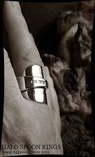 STUNNING CHUNKY SOLID SILVER INVERTED SPOON RING 1933 FULLY ASSAY APPROVED