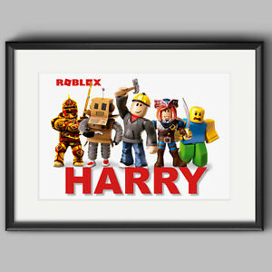Roblox Poster- Personalised Wall Art Print A4