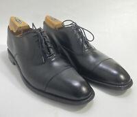 ALDEN Men's Straight Tip Bal in Black Calfskin Size 11 US AA B Cap Toe Excellent