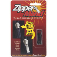 Zipper Pull Replacement Repair Kit For Luggage Jacket Backpack Black NEW