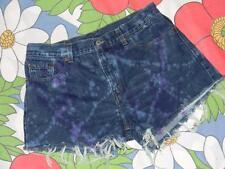Vintage Levis 577 cut offs jeans shorts blue purple denim dyed   34 inch waist