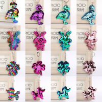 Pendant Holder Car Bag Accessories Flamingo Key Ring Glitter Sequins Keychain