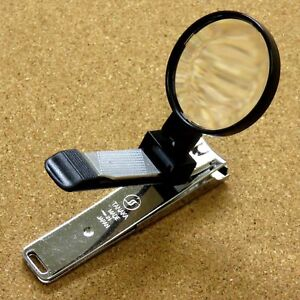Japanese Toe Nail Clipper with Magnifying glass 85mm 3.3 inch Made in SEKI JAPAN