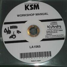 KUBOTA LA1065 LOADER SERVICE SHOP REPAIR WORKSHOP MANUAL CD