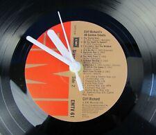 "Cliff Richard Vinyl Record Wall Clock Album 40 Golden Greats 12"" LP Gift Idea"