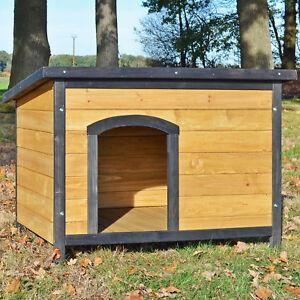 Zooprinz Hundehütte Rex 3Größen Dachluke Hundehaus Hunde Haus Hütte Massivholz