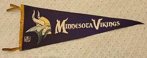 """RARE Minnesota Vikings VINTAGE Circa 1960's Team Logo NFL Full Felt Pennant 29"""""""