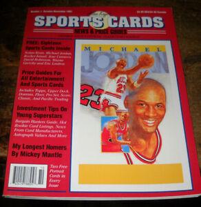 ALAN KAYE SPORTS CARDS NOVEMBER 1991 NUMBER 1 MICHAEL JORDAN UNCUT SHEET INSIDE