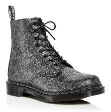 Dr. Martens 1460 Pascal 8 Eye Women's Size 6 Black Silver Pebble Leather Booties