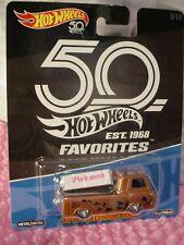 VOLKSWAGEN T1 Drag Bus 6/10 ZAMAC VW Flames 2018 Hot Wheels 50th Favorites