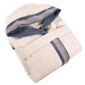 UNISEX bathrobe in terry with hood GABEL Pongo Beige