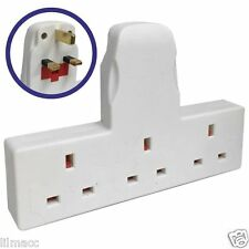 3 WAY WIREFREE SOCKET EXTENSION MULTI PLUG IN MAINS SOCKET 13A AMPS - NEW