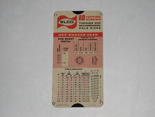 1966 Elco Ab Tapping Screws Torques Holes Sizes Slide Ruler