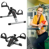 New Foldable Pedal Fitness Exerciser Cycle Leg Arm Training Exercise Bike LCD
