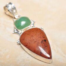 """Handmade Obsidian Mahogany Jasper 925 Sterling Silver Pendant 2.75"""" #P14842"""