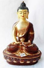 "F660 Exclusive Gold Plated Copper Statue Amitabha Buddha 13"" Handmade in Nepal"