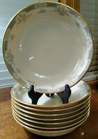 8 Lenox Somerset Coupe Soup Bowls Cream/Pink/Grey Gold Guiding Sold Individually