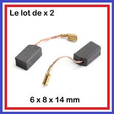 Lot  2 Balais de Charbon 6 x 8 x 14 mm Moteur perceuse, outillage electroportati
