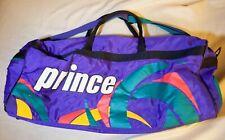 Vintage Rare PRINCE Tennis Duffel Bag Purple 30 x 12