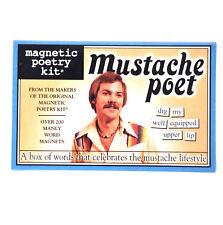 Mustache Poet - Aimant de réfrigérateur Poésie Ensemble - Fridge Poetry