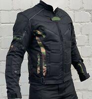 Motorradjacke - Jacke herausnehmbare Protektoren - Textil Motorrad Jacke Biker