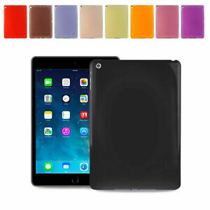 Soft Flexible Silicone Gel Back Case Cover Apple iPad 9.7 2017/18/Air1/2/5/6/pro