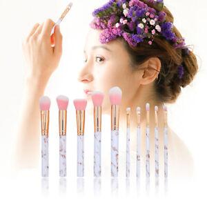 10Pcs Pro Makeup Brush Set Contour Foundation Eyeshadow Face Pencil Brushes UK