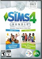Brand New Sealed The Sims 4: Outdoor Retreat & Cool Kitchen Stuff Bundle PC game