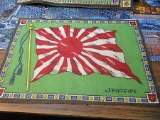 Pre-WWI Felt Japan Flag    *
