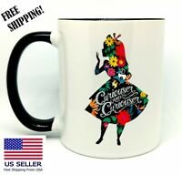Curiouser and curiouser, Alice in Wonderland, Gift Mug 11oz