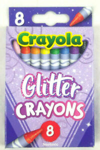 Crayola Glitter Crayons 8 Count Back to School Supplies Specialty Color Limited