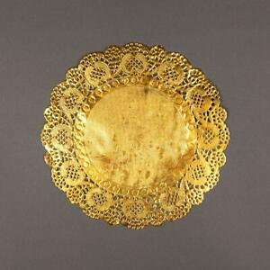"""8.5"""" Round Gold Foil Doilies (50 Pack)"""