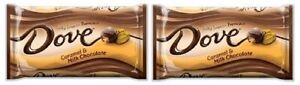 Dove Caramel & Milk Chocolate Silky Smooth Promises Chocolate Candy 2 Bag Pack