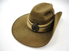 VINTAGE AUTHENTIC WWII AUSTRALIAN ARMY UNIFORM SLOUCH HAT 1940's 6 3/4
