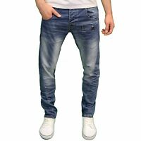 Crosshatch Mens Designer Twisted Leg Regular Fit Tapered Chinos Jeans, BNWT