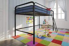 DHP Junior Loft Bed Ladder Sturdy Metal Frame Space Saving Black Finish 5458196